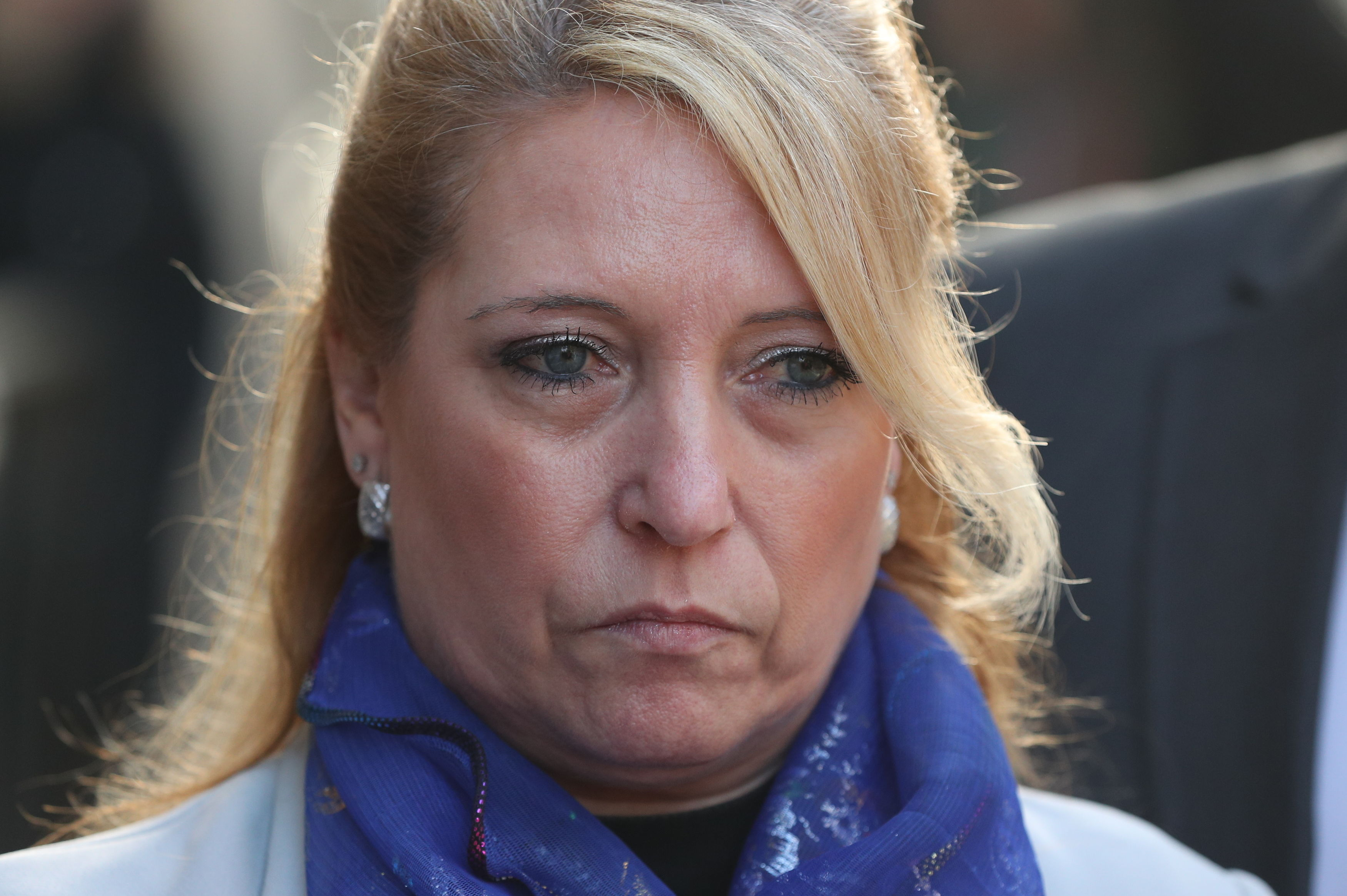 James Bulger's mum Denise Fergus outside the Old Bailey. Credit: PA