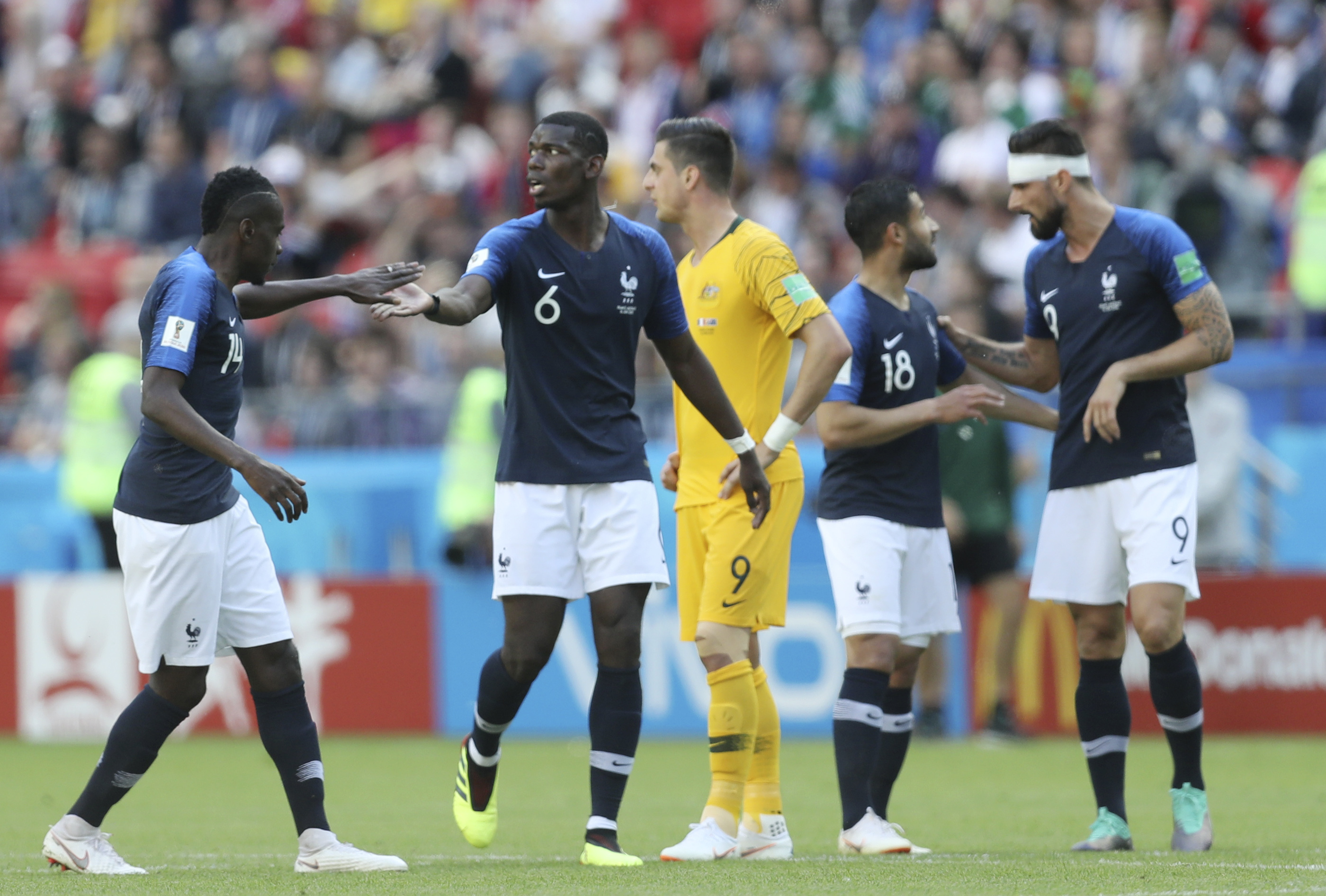 Federation Internationale de Football Association take away Pogba's goal for France