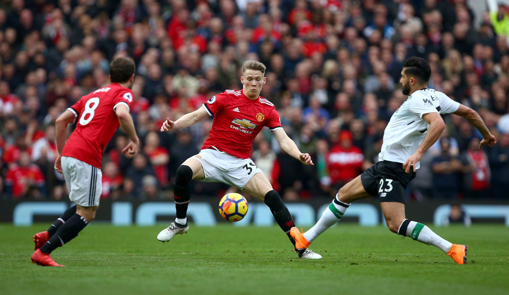 McTominay in action for United. Image: PA