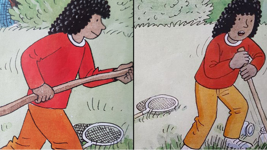 People Are Calling Out The Weird Illustrations In Biff And Chip