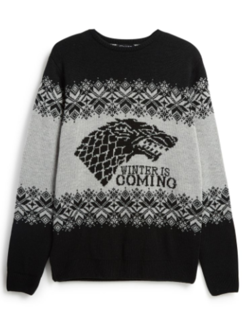 The 'Winter Is Coming' jumper is a bargain at £14. (Credit: Primark)