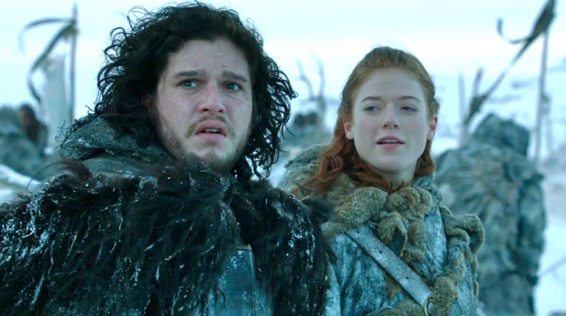 Jon Snow and Rose Leslie met on the set of Game of Thrones. Credit: HBO