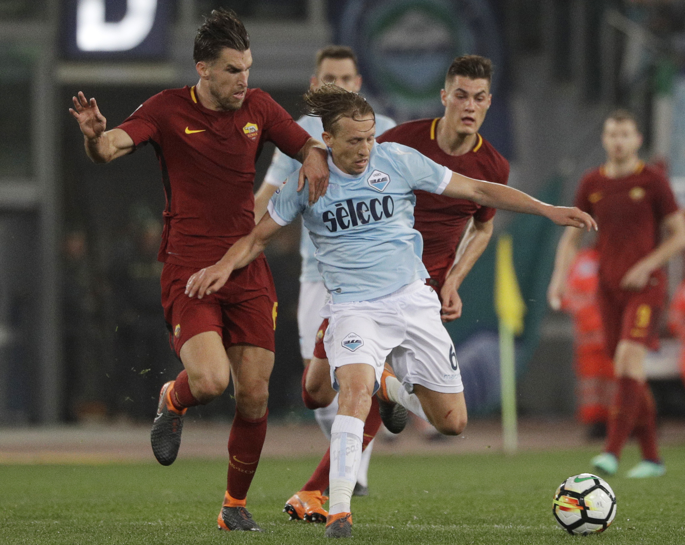 Lucas in action for Lazio. Image: PA