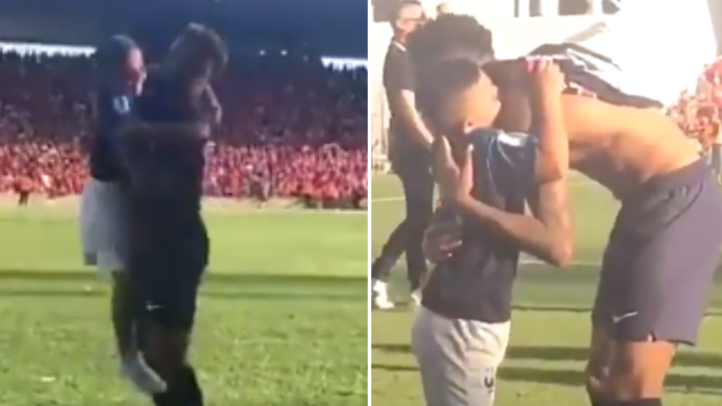 Neymar Embraces Pitch-Invading Youngster In Wonderful Moment Against Nimes