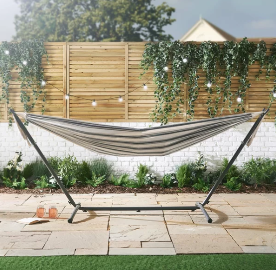 This Wayfair hammock comes with a stand and is £86.99. Credit: Wayfair