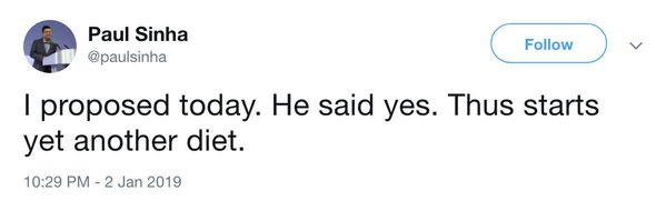 Paul Sinha has announced his engagement to mystery boyfriend. Credit: Twitter/@paulsinha