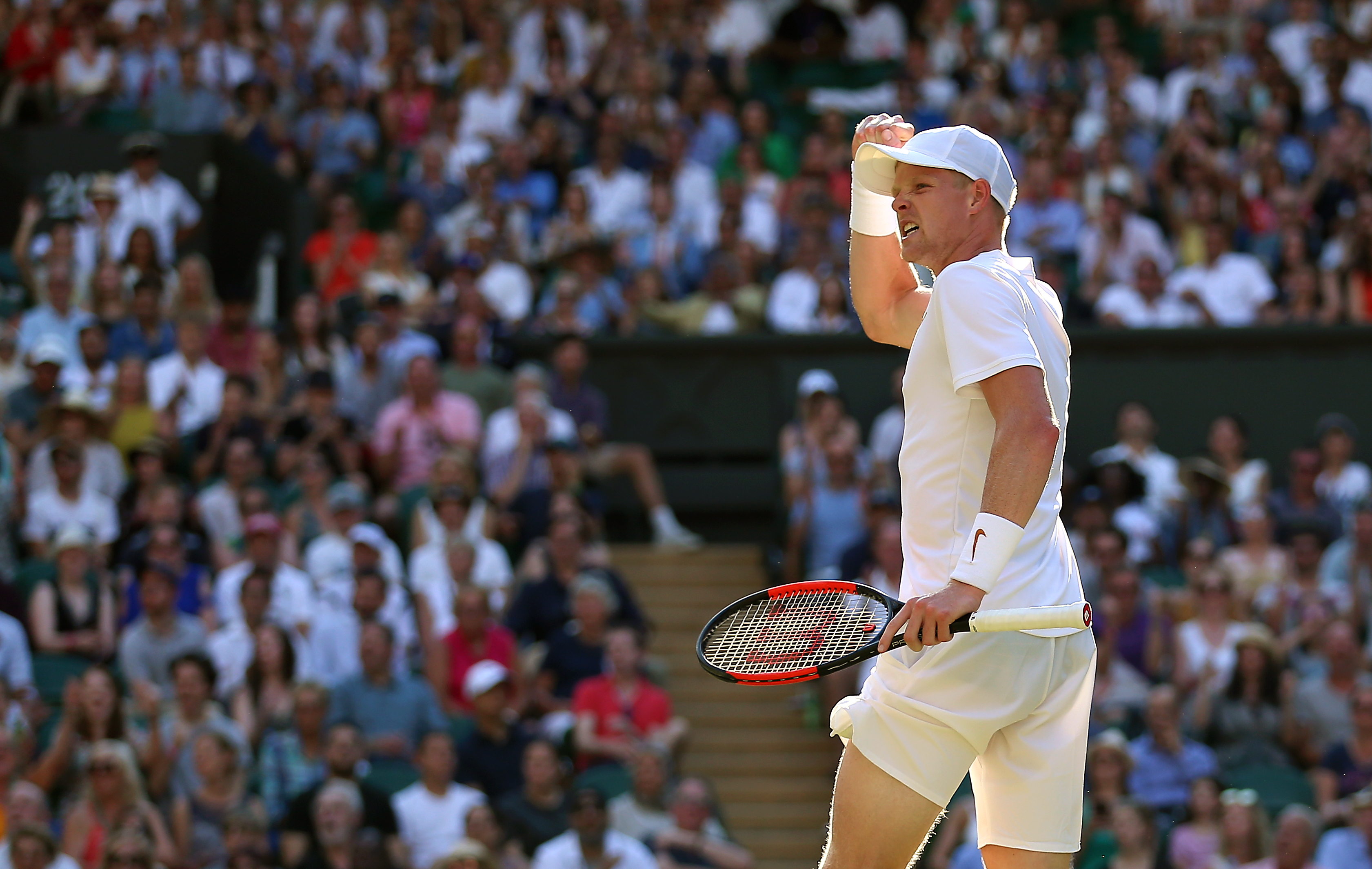 Edmund pumps his fist at last summer's Wimbledon. Image: PA Images