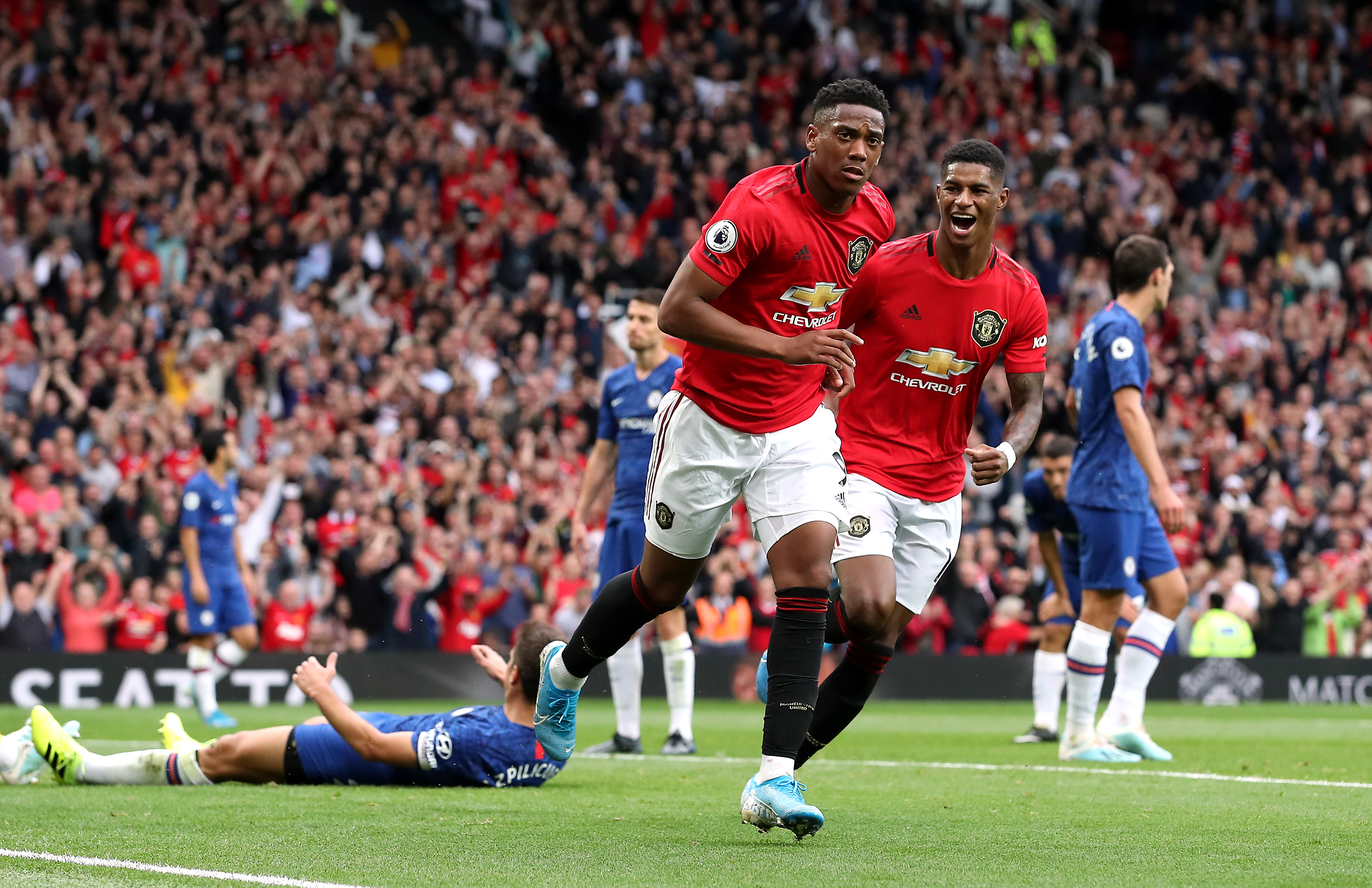Anthony Martial and Marcus Rashford have been compared to some rival Premier League players