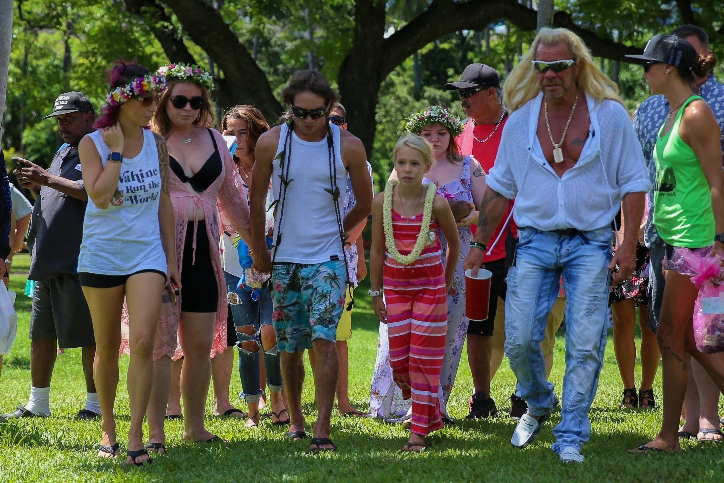 The memorial was held in Hawaii which followed Beth's wishes. Credit: BACKGRID