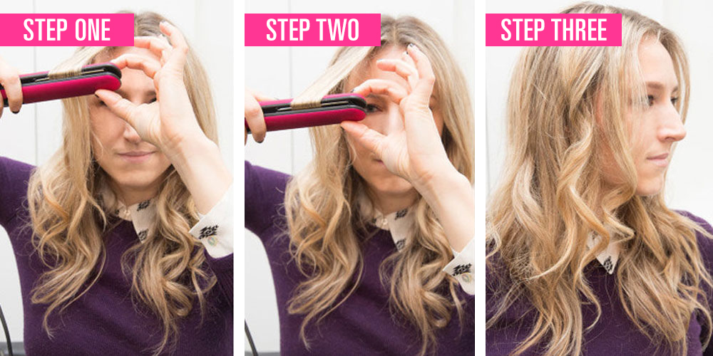 How to curl hair with a flat iron easy