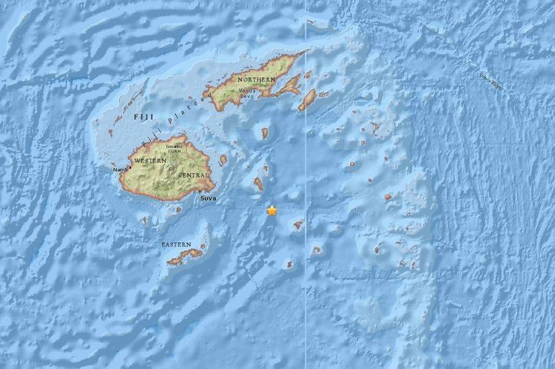Magnitude 8.1 quake hits 123 km South-East of Fiji