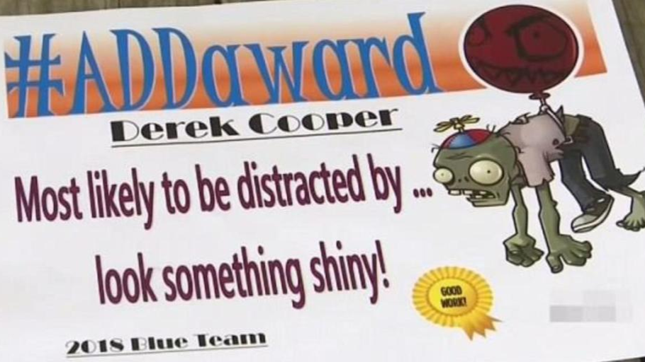 Schoolboy With ADHD Reduced To Tears After Being Given 'Most Likely to Be Distracted' Award
