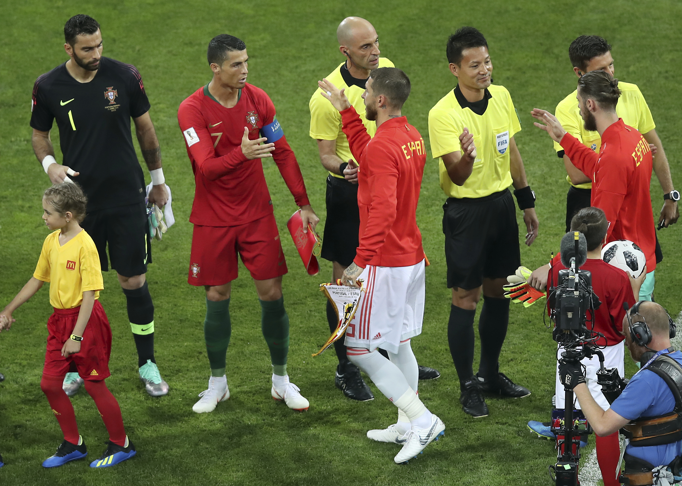 Sergio Ramos inadvertently helped Cristiano Ronaldo score his penalty against Spain class=