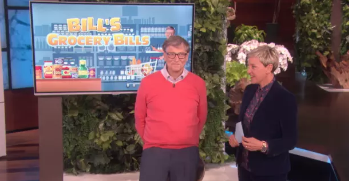 Billionaire Bill Gates has no idea how much detergent costs