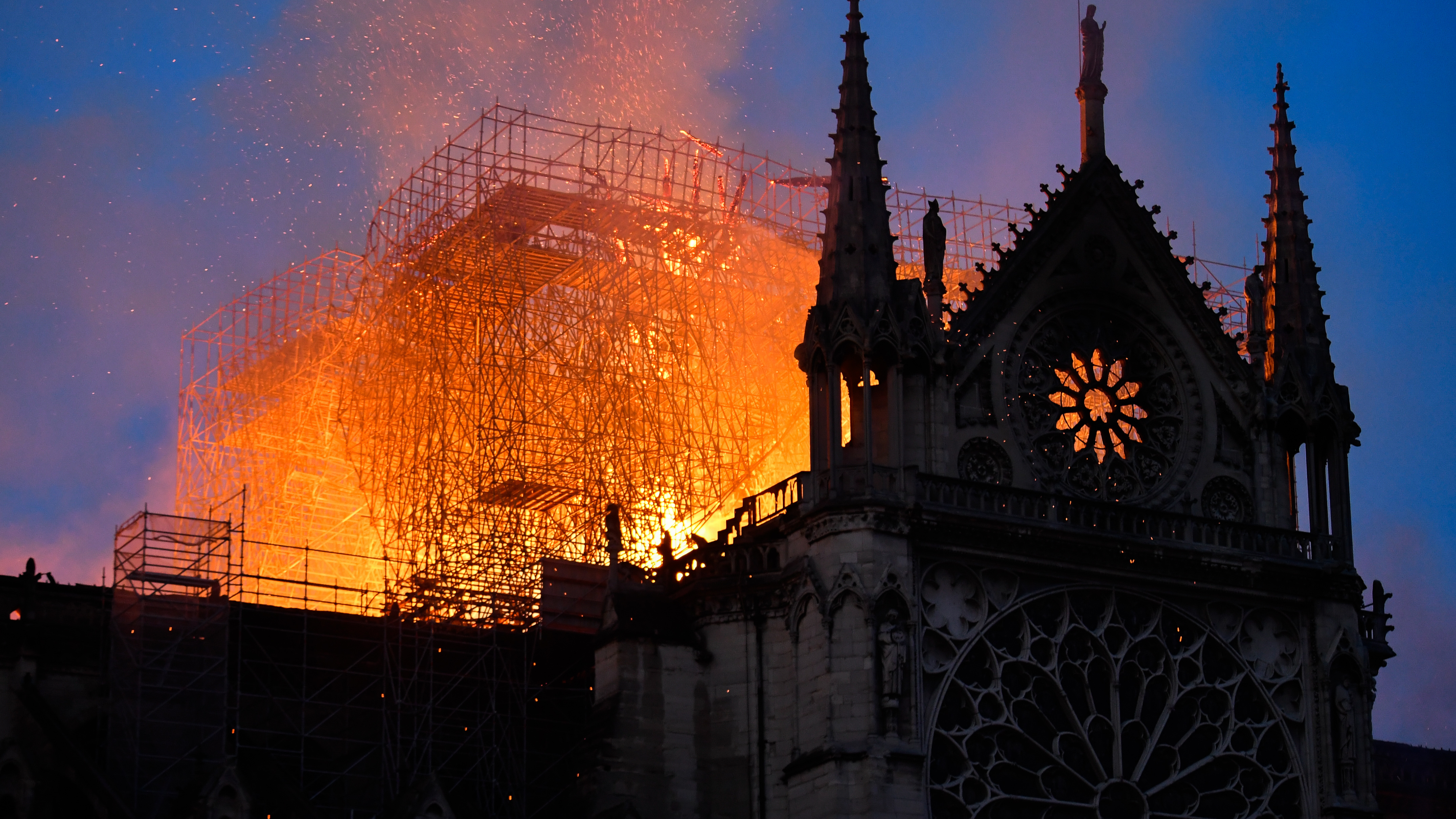 The fire took place on 15 April. Credit: PA