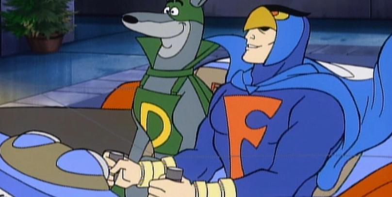 Blue Falcon with Scooby-Doo. Credit: Warner Bros