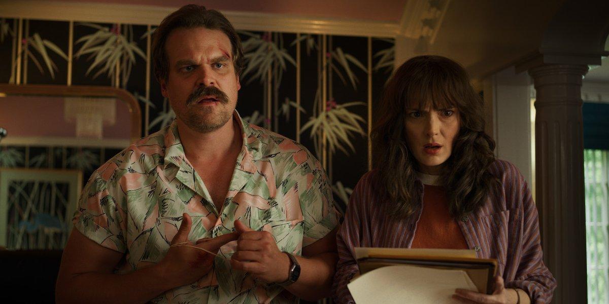 Chief Hopper and Joyce Byers. Credit: Netflix