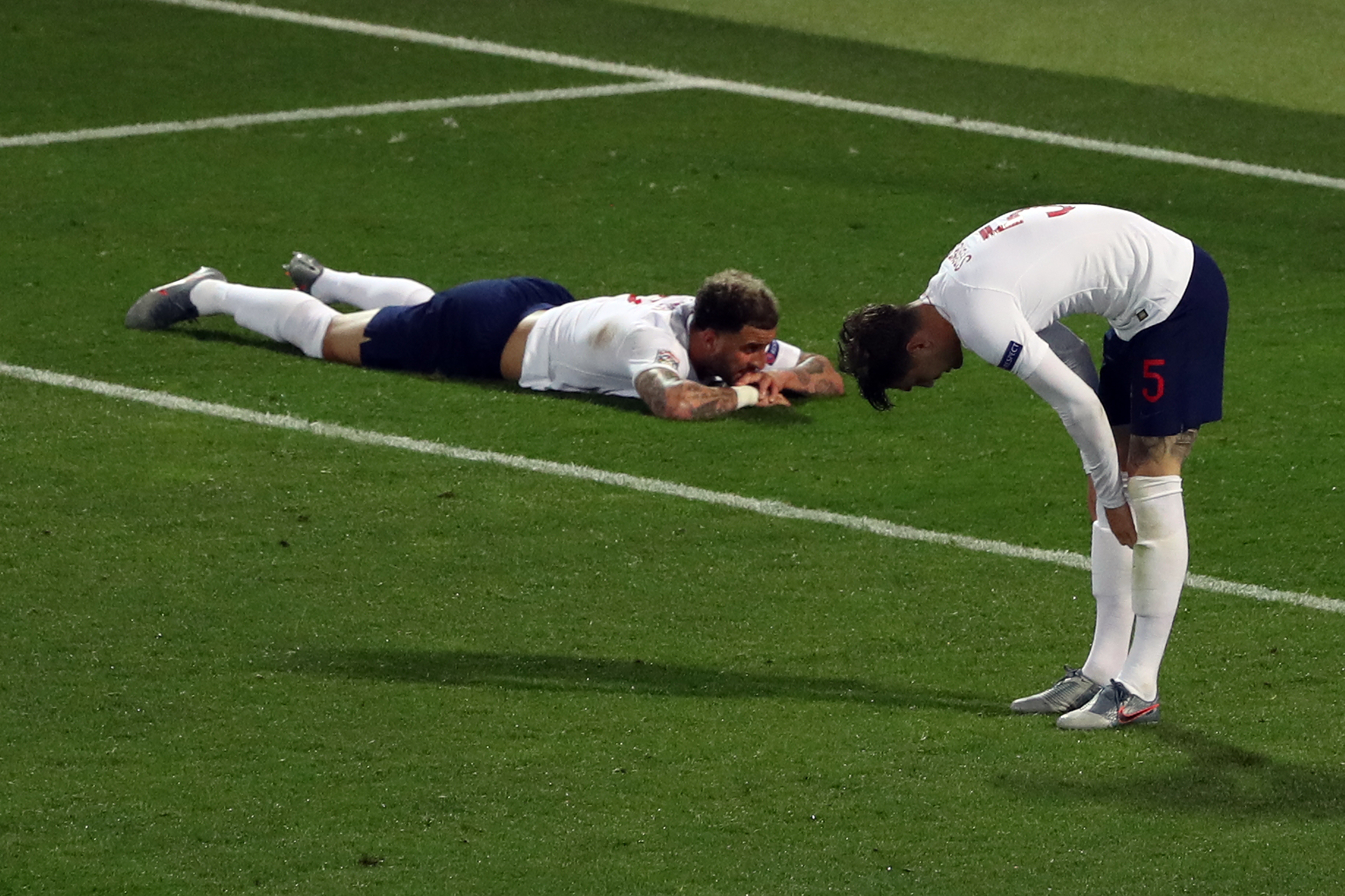 England players gutted after losing a second semi-final in a year. Image: PA Images