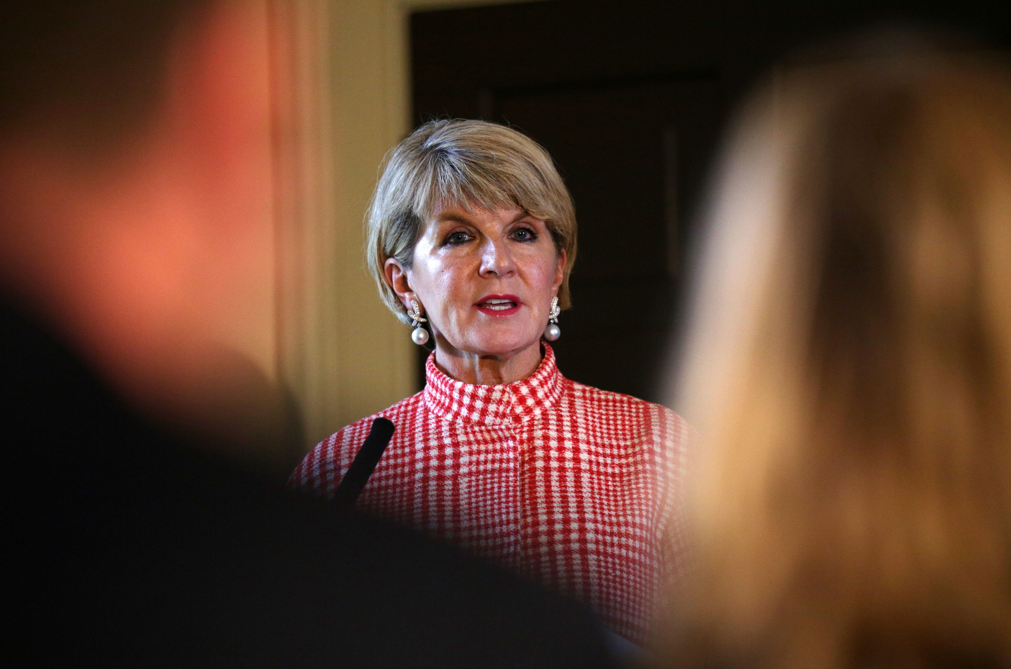 Julie Bishop came in third on the list. Credit: PA