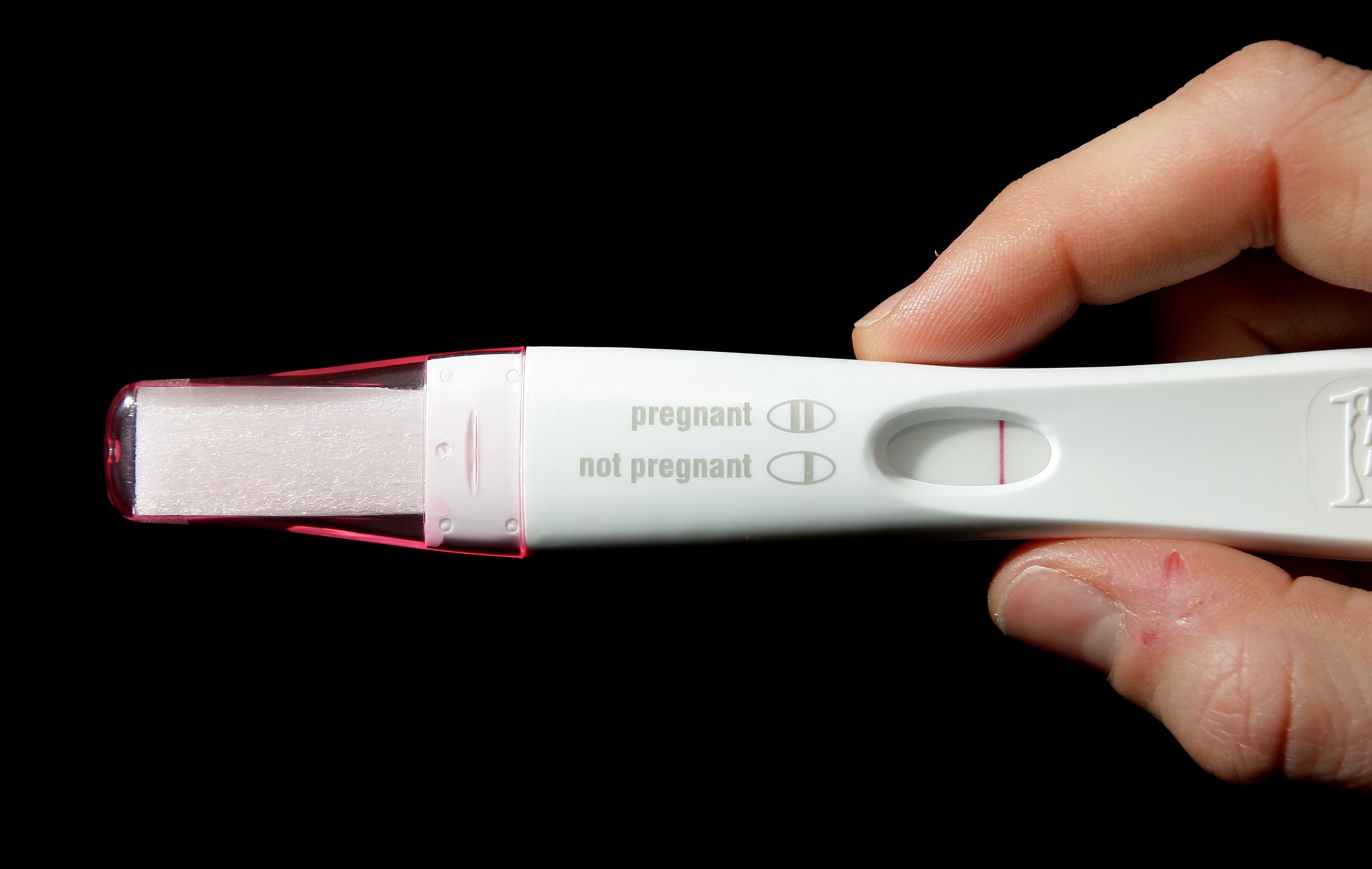An ACTUAL pregnancy test. Credit: PA