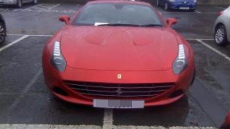 Ferrari Driver Fined For Parking Across Two Spaces Despite Paying For Both