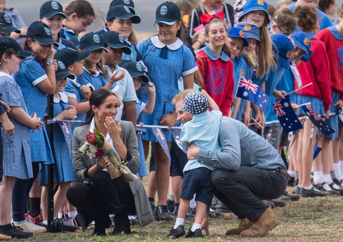 British royals reign over drought-stricken Australian town