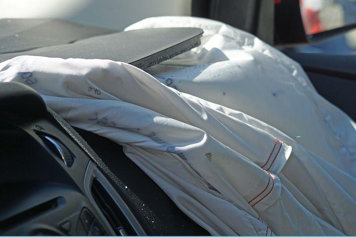 Deployed airbag. Credit: Pixabay