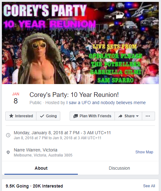 Corey Worthington party