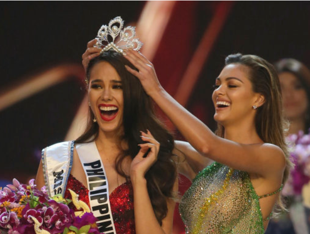Filipino Catriona Gray Wins Miss Universe 2018. Credit PA