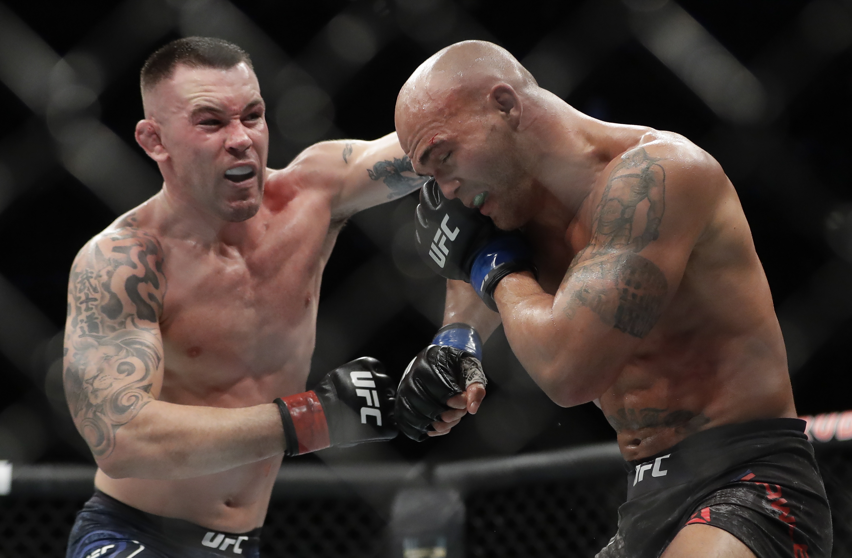 Colby Covington, pictured in action against Robbie Lawler, wants to fight Kamaru Usman next