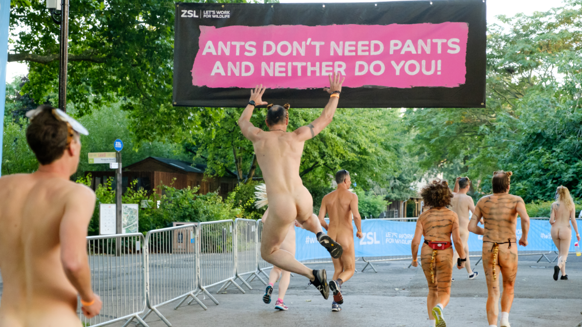 Hundreds Strip Down For London Zoo's Annual Naked Run To Raise Money For Endangered Tigers