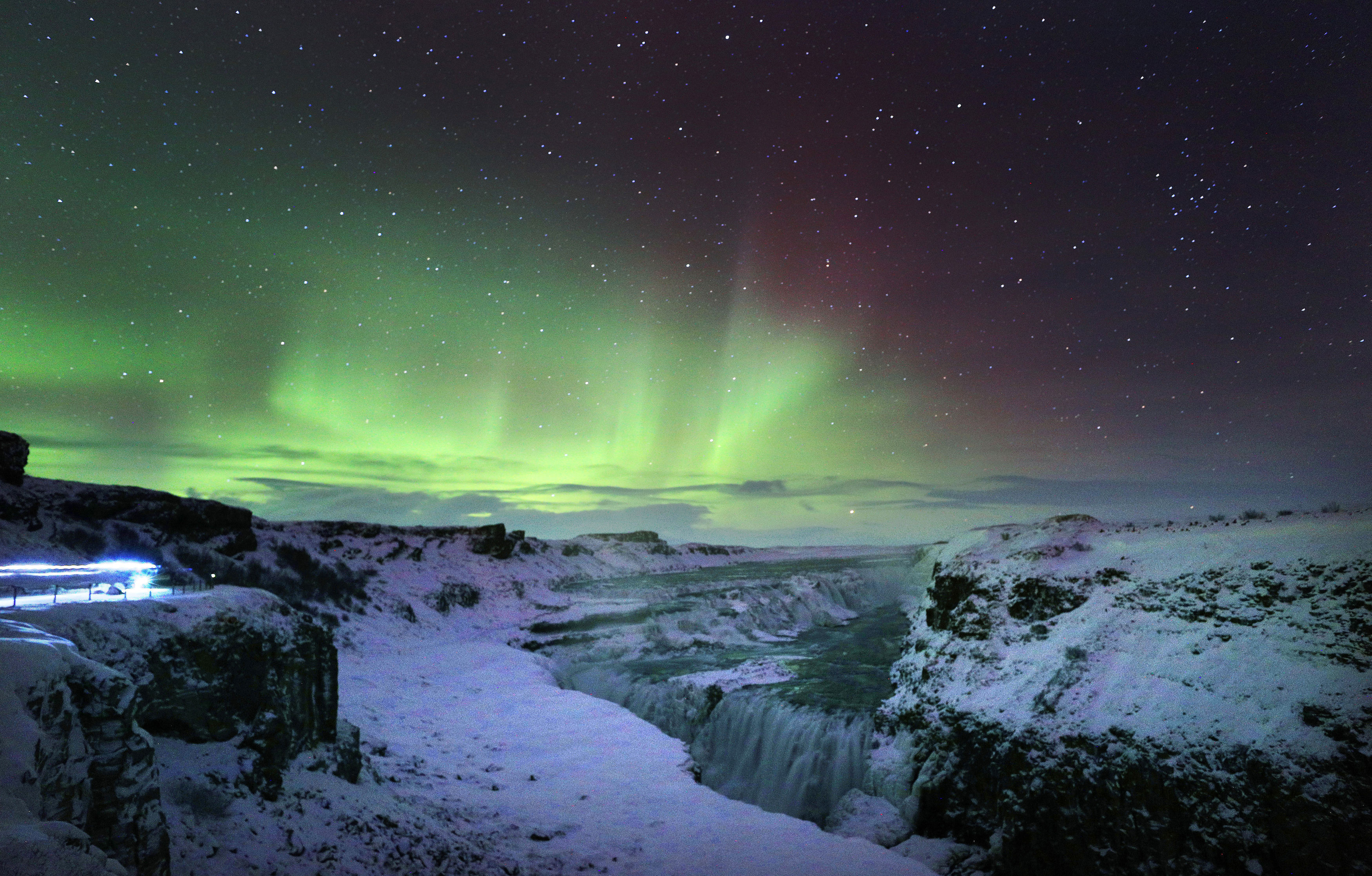 What the sky looks like in Iceland during the Northern Lights. Credit: PA