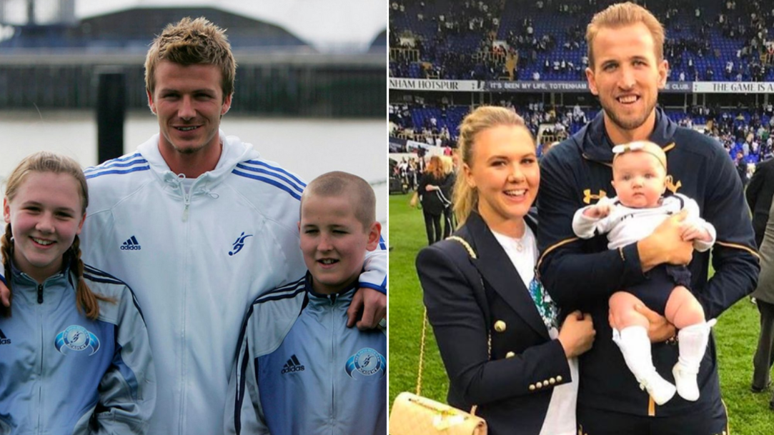 The Moment 11-Year-Old Harry Kane Met David Beckham With Schoolgirl Who Would Become His Fiancee