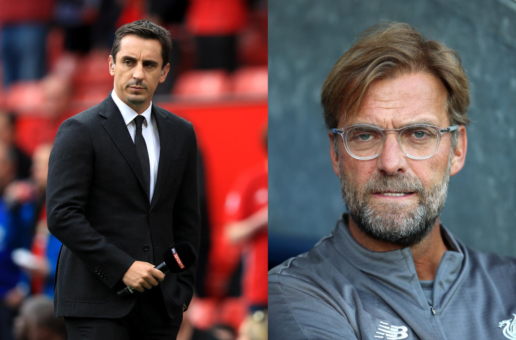 Jürgen Klopp Shuts Down Gary Neville On Liverpool's Premier League Challenge