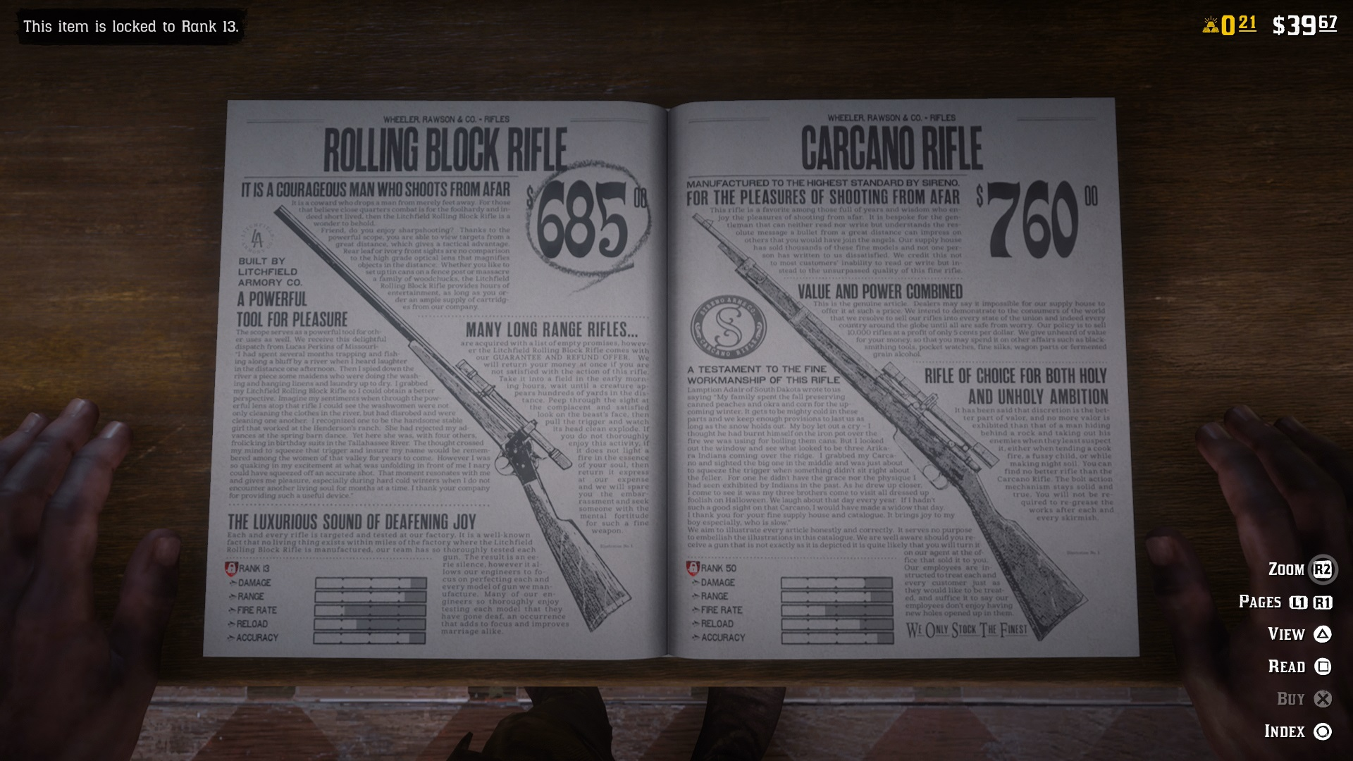 Weapons in 'Red Dead Online' are ridiculously expensive. Credit: Rockstar Games