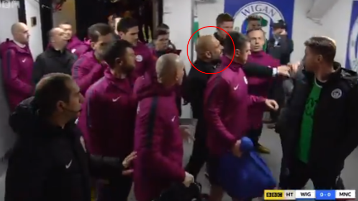 Pep Guardiola Went Full Blown 'Pissed Bloke At The Pub' At Half-Time
