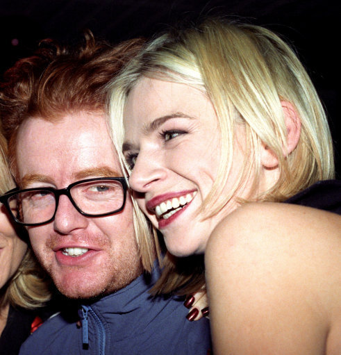 Chris Evans and Zoe Ball back in 1996. Credit: PA