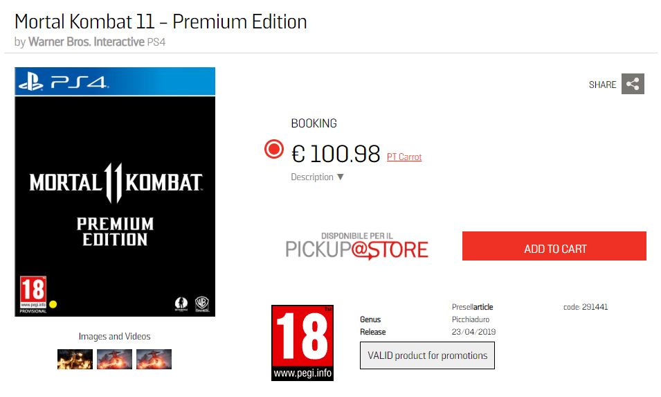 'Mortal Kombat 11' details leaked online. Credit: GameStop/Warner Bros.