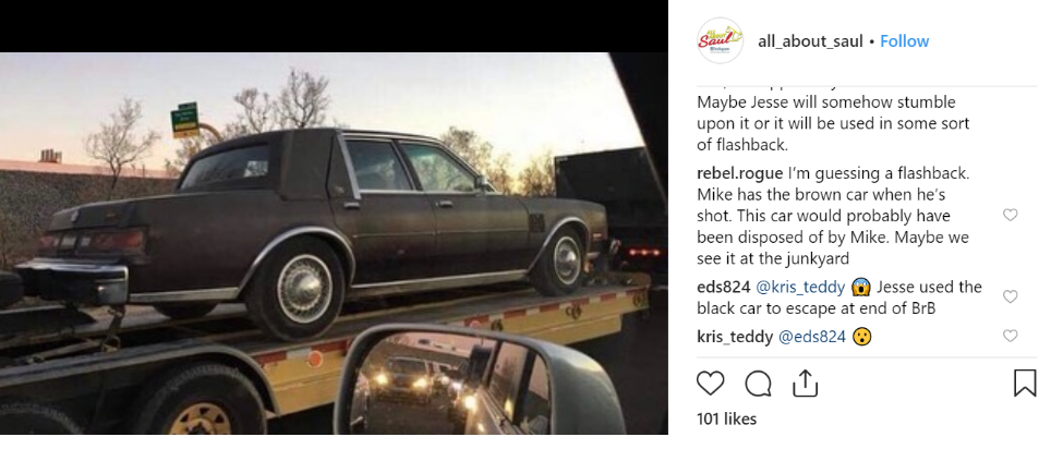 Pictures of what appears to be Mike's car have been shared online. Credit: Instagram/all_about_saul