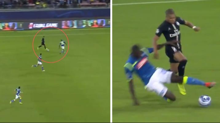 Kalidou Koulibaly Makes Defending Against Kylian Mbappe Look Easy