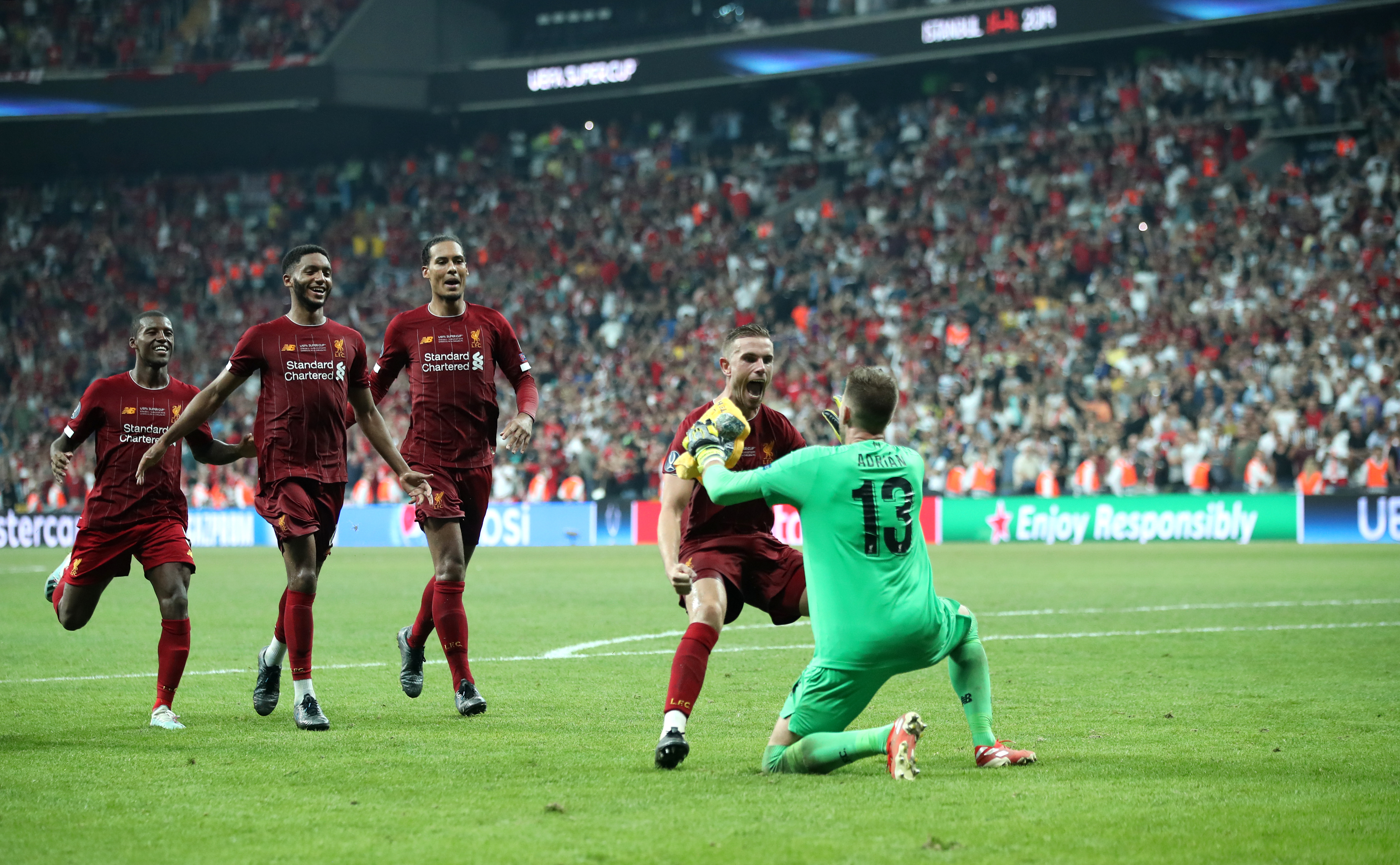 Adrian was the hero as Liverpool beat Chelsea on penalties to win the UEFA Super Cup