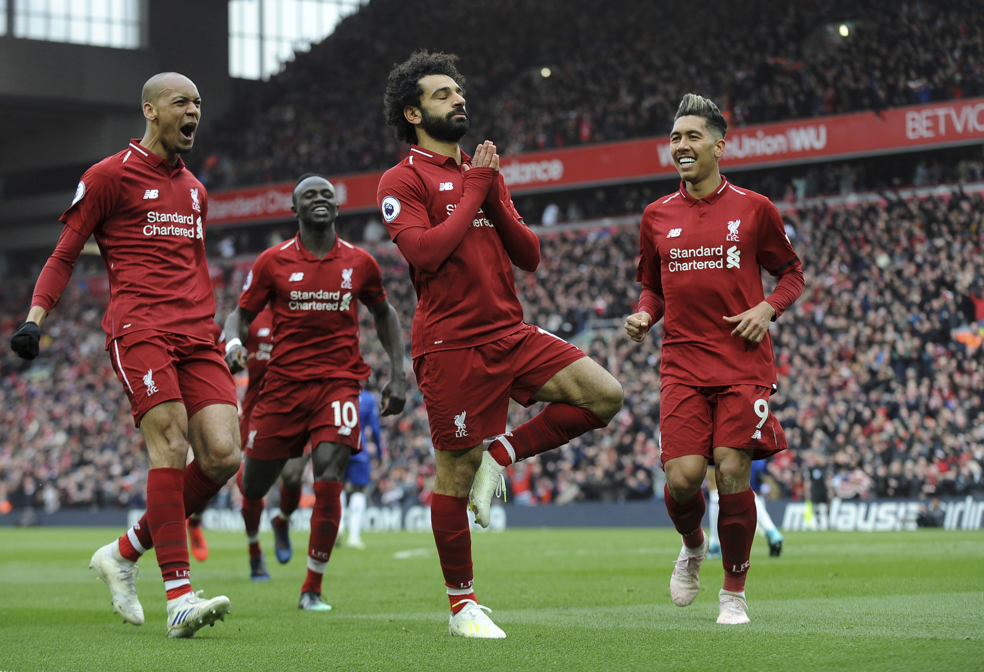 Mo Salah's goal earned Liverpool three points against Chelsea. Image: PA Images