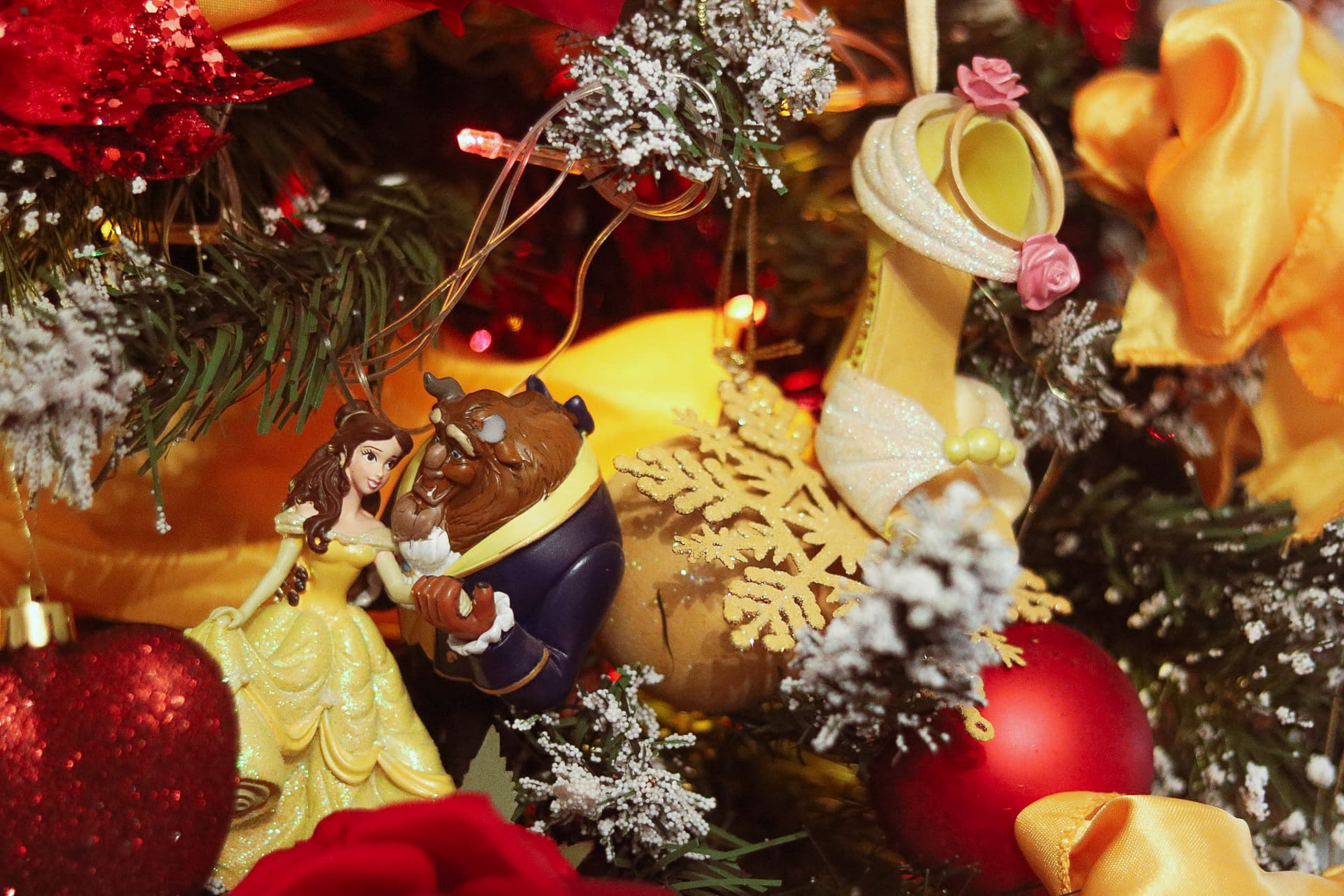 As well as the hand customised baubles Sian spent £120 on official Disney baubles. (Credit: Mercury Press)