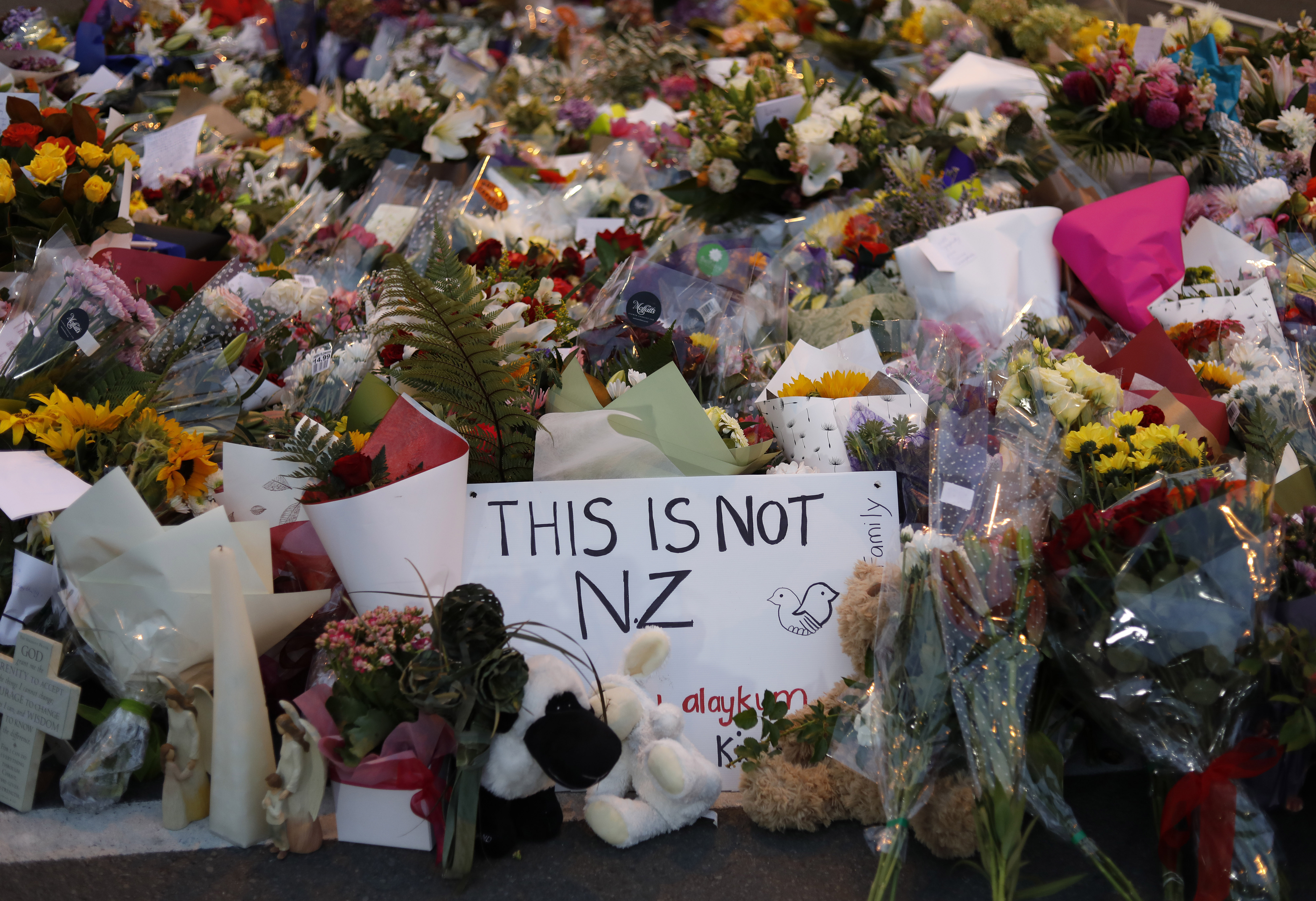 Tributes have been left at the scenes of the attack. Credit PA