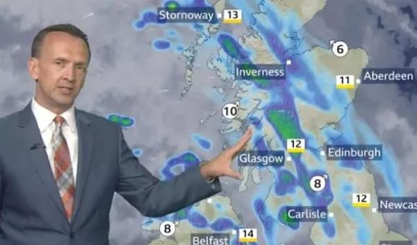 BBC's Nick Miller deliver some bad news. Credit: BBC