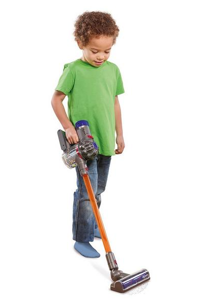 The Casdon Dyson Toy Cordless Vacuum could signal the end of play without an end product. Credit: Very