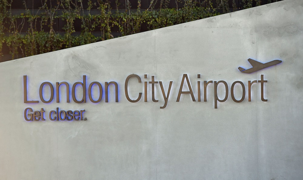 Staff at London City Airport also discovered a package. Credit: PA