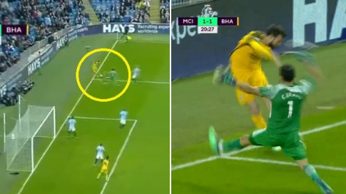 Claudio Bravo Returned In Goal For Man City, Produces Hilarious Mistake