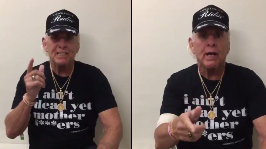 Ric Flair Updates Followers On His Condition With Energetic Video
