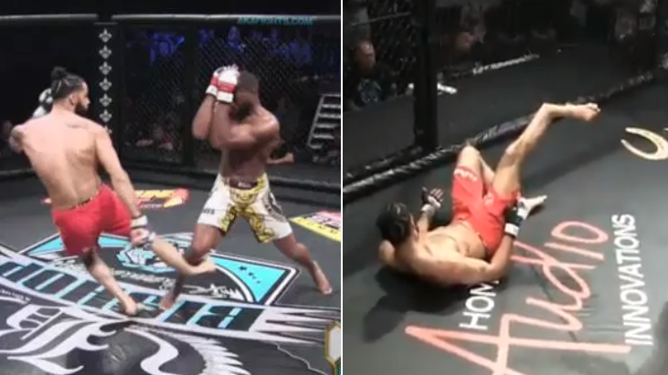 Amateur MMA Fighter Jonathan King Breaks Leg In Horrific Injury